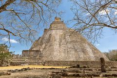 Ruins of the prehispanic town of Uxmal. A Unesco World Heritage site Stock Images