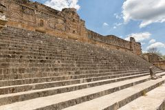 Ruins of the prehispanic town of Uxmal. A Unesco World Heritage site Royalty Free Stock Photography