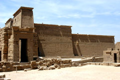 Ruins of Ptolemy temple. Ancient ruins of Ptolemy temple on the island of Philae, Egypt stock photos