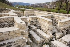 Ruins of public bath, old Orhei, Moldova Royalty Free Stock Photos