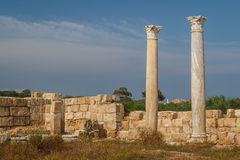 Ruins of public baths in the ancient Roman city of Salamis Stock Image