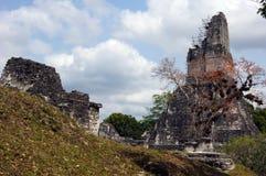 Ruins and pyramid Royalty Free Stock Image
