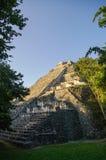 Ruins of pyramid in the ancient Mayan city of Becan royalty free stock photos
