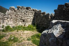 Ruins of Pyramid of Hellinikon near Kefalari on Peloponnese in Greece. Image of ruins of Pyramid of Hellinikon near Kefalari on Peloponnese in Greece stock photography