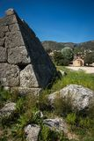 Ruins of Pyramid of Hellinikon near Kefalari on Peloponnese in Greece. Image of ruins of Pyramid of Hellinikon near Kefalari on Peloponnese in Greece stock photo