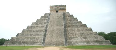 The pyramid at Chichen Itza, Mexico Royalty Free Stock Photo