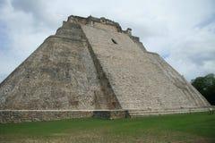 The pyramid at Uxmal, Mexico stock photo