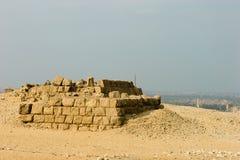 Ruins of pyramids. In Giza Stock Photo