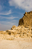 Ruins of pyramids Stock Photo