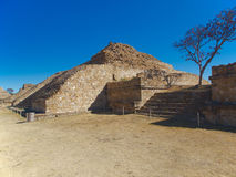 The ruins of the pyramids at Monte Alban Royalty Free Stock Photos
