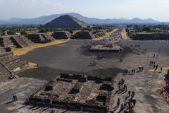 Ruins of the Pyramids of Pre-Columbian city Teotihuacan, Mexico Stock Photography