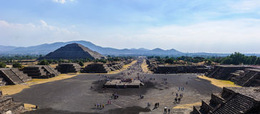 Ruins of the Pyramids of Pre-Columbian city Teotihuacan, Mexico Royalty Free Stock Photography