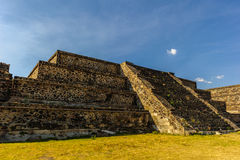 Ruins of the Pyramids of Pre-Columbian city Teotihuacan, Mexico Royalty Free Stock Photo