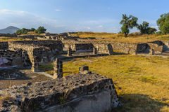 Ruins of the Pyramids of Pre-Columbian city Teotihuacan, Mexico Stock Images