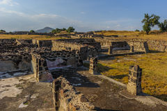 Ruins of the Pyramids of Pre-Columbian city Teotihuacan, Mexico Royalty Free Stock Photos