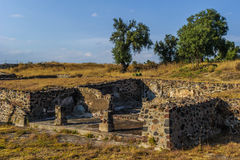 Ruins of the Pyramids of Pre-Columbian city Teotihuacan, Mexico Stock Photos