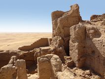 Ruins at Qasr Dusch Stock Images