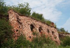 Ruins of quarters in ancient fortress Royalty Free Stock Images