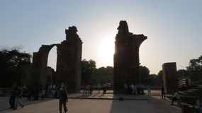 Ruins at Qutub Minar delhi Royalty Free Stock Images