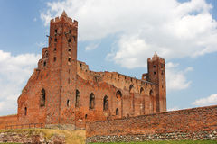 Ruins of Radzyn Chelminski castle Royalty Free Stock Images
