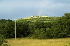 Ruins rainbow Royalty Free Stock Image