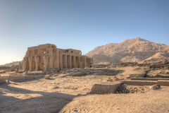Ruins of Ramesseum temple in Luxor Stock Image
