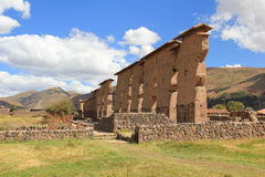 Ruins of Raqch'i, Peru Royalty Free Stock Photography