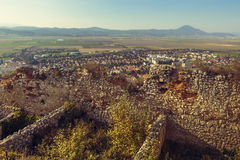 Ruins of Rasnov citadel royalty free stock photos