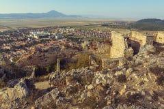 Ruins of Rasnov citadel royalty free stock photography