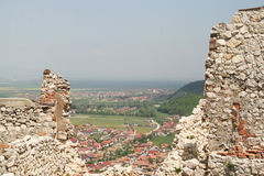 Ruins of the Rasnov stronghold Stock Image