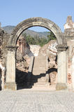 Ruins of the Recoleccion church at Antigua Stock Images