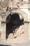 Ruins of the Recoleccion church at Antigua. On Guatemala royalty free stock image