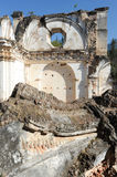 Ruins of the Recoleccion church at Antigua. On Guatemala royalty free stock photo