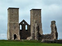Reculver Tower. The ruins of Reculver Towers along the Kent coast Royalty Free Stock Image