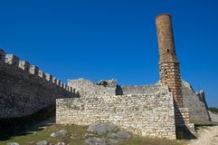 Ruins of the Red Mosque, Berati, Albania. Ruins are scattered all around Albania left from the ottoman times. This one is the Red Mosque in Berati Royalty Free Stock Photos