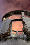 Ruins on the red sky Stock Image
