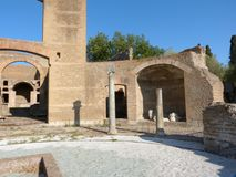 The ancient remains of a Roman city of Lazio - Italy 0155 Royalty Free Stock Photo