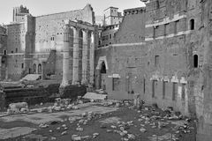 The ruins and remains of the Roman Forum in Rome. Italy Stock Photography