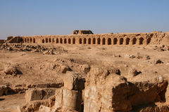 Ruins of resafa. Ruins of the ancient roman city of resafa (sergiopolis) in the syrian desert royalty free stock photography