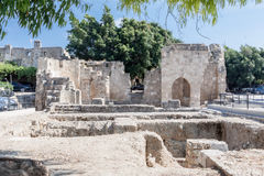 Ruins Rhodes Greece Royalty Free Stock Photography