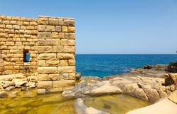 Ruins of Ricasoli Fortification Royalty Free Stock Images
