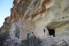 Ruins, Rock, Cliff Dwelling, Terrain royalty free stock photo