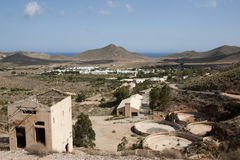 Ruins of Rodalquilar Gold Mine - Cabo de Gata Stock Photography