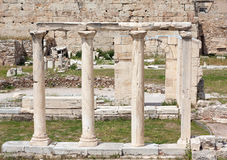 Ruins in the Roman Agora of Athens, Greece. Ancient ruins in the Roman Agora or Forum in the centre of Athens, Greece Royalty Free Stock Photography
