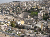 Roman amphitheater . Amman. Jordan Royalty Free Stock Images