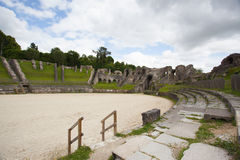 Ruins of roman amphitheater. In Saintes ,France Royalty Free Stock Image