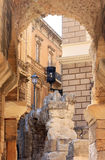 Ruins of Roman amphitheatre in Lecce, Italy Stock Images