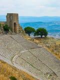 Ruins of Roman amphitheatre, Turkey Stock Photo