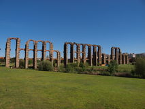 Ruins of a roman aqueduct Stock Photography