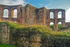 Roman Bath. Ruins of a Roman bath located in Trier, Germany Royalty Free Stock Photo